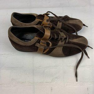 Men's Bacco Bucci brown leather shoes size 9.5